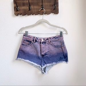 Topshop | Moto Ombre Booty Shorts